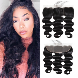 WorldNewHair Body Wave Hair 13x4 Ear To Ear Lace Frontal Closure