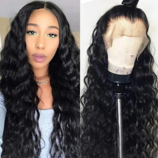 Water Wave 6×6 Lace Front Closure Wigs Pre Plucked Wet And Wavy Lace Front Wigs For Full Head