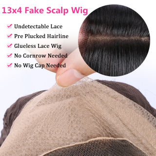 Silky Straight Natural Black 13x4 Silk Base Top Lace Front Closure Wig With Baby Hair