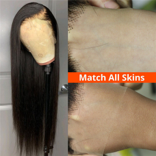 Cheap 13x4 Transparent Body Wave Lace Front Human Hair Wigs With Baby Hair Natural Hairline Virgin Hair