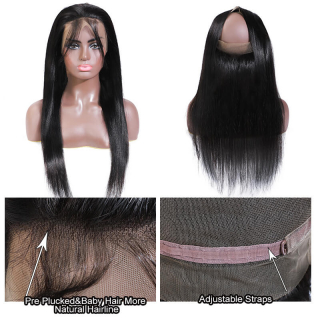 Hot Sale 360 Lace Frontal 7A Grade Straight Virgin Human Hair