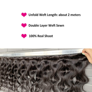 Virgin Hair Body Wave 3 Bundles With 13x4 Transparent Lace Frontal Closure