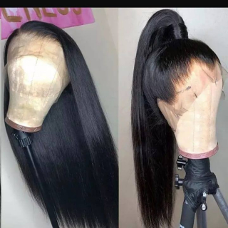 Best Straight Hair 13x4 Lace Front Wig Pre Plucked Natural Black Human Hair Wig