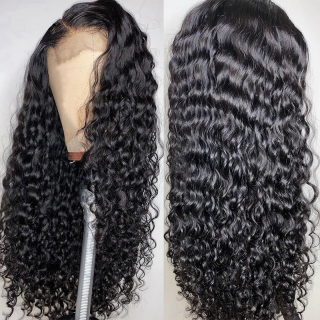 Bleached Knots 4x4 Human Hair Lace Wigs Virgin Water Wave Affordable Lace Closure Wig For Black Women