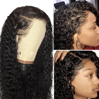 360 Lace Frontal Water Wave 150% and 180% Density Water Wave 360 Lace Front Human Hair Wigs