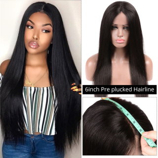 WorldNewHair 6x6 Straight Human Hair Lace Front Closure High Density Sale Online