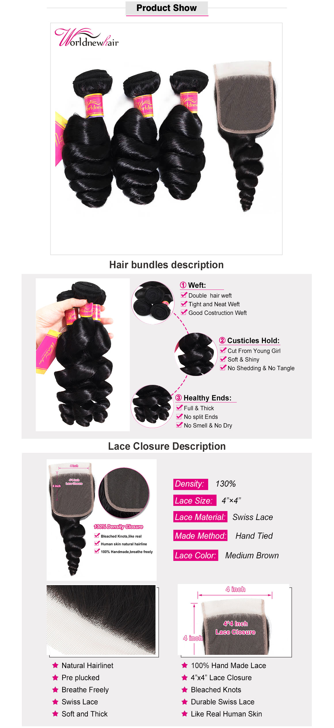 malaysian loose wave curly hair bundles,hair weft,hair weave