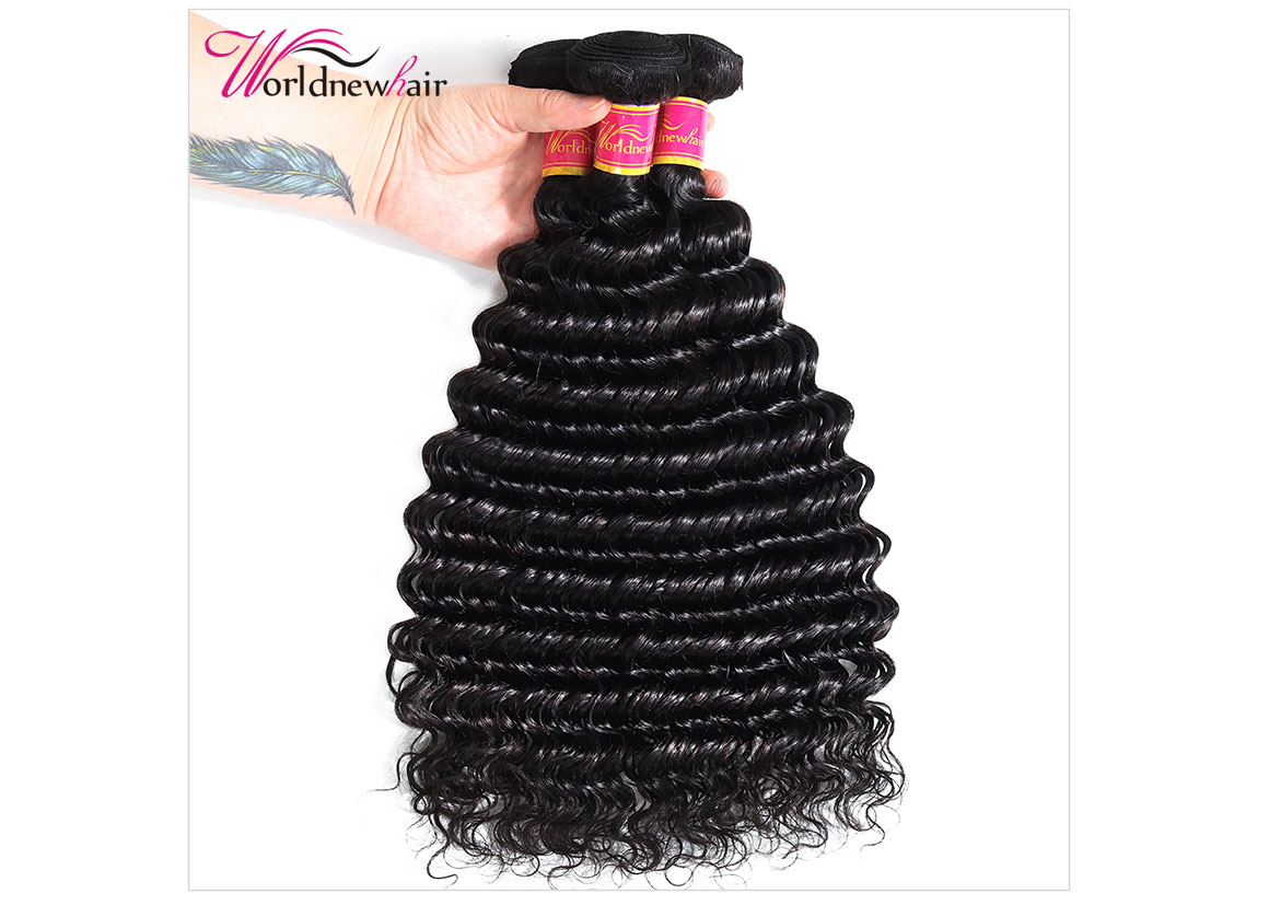 peruvian deep wave curly hair bundles,hair weft,hair weave