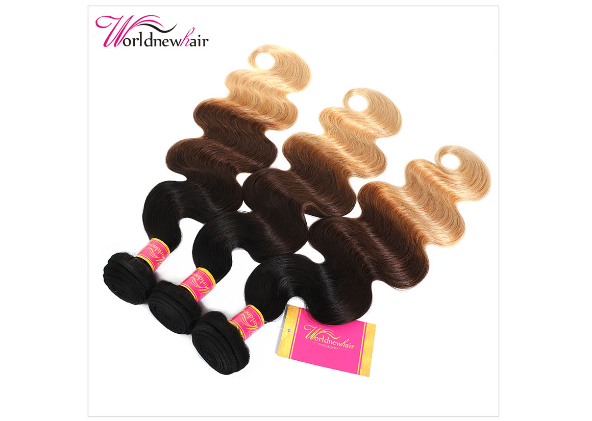 indian ombre body wave curly hair bundles,hair weft,hair weave