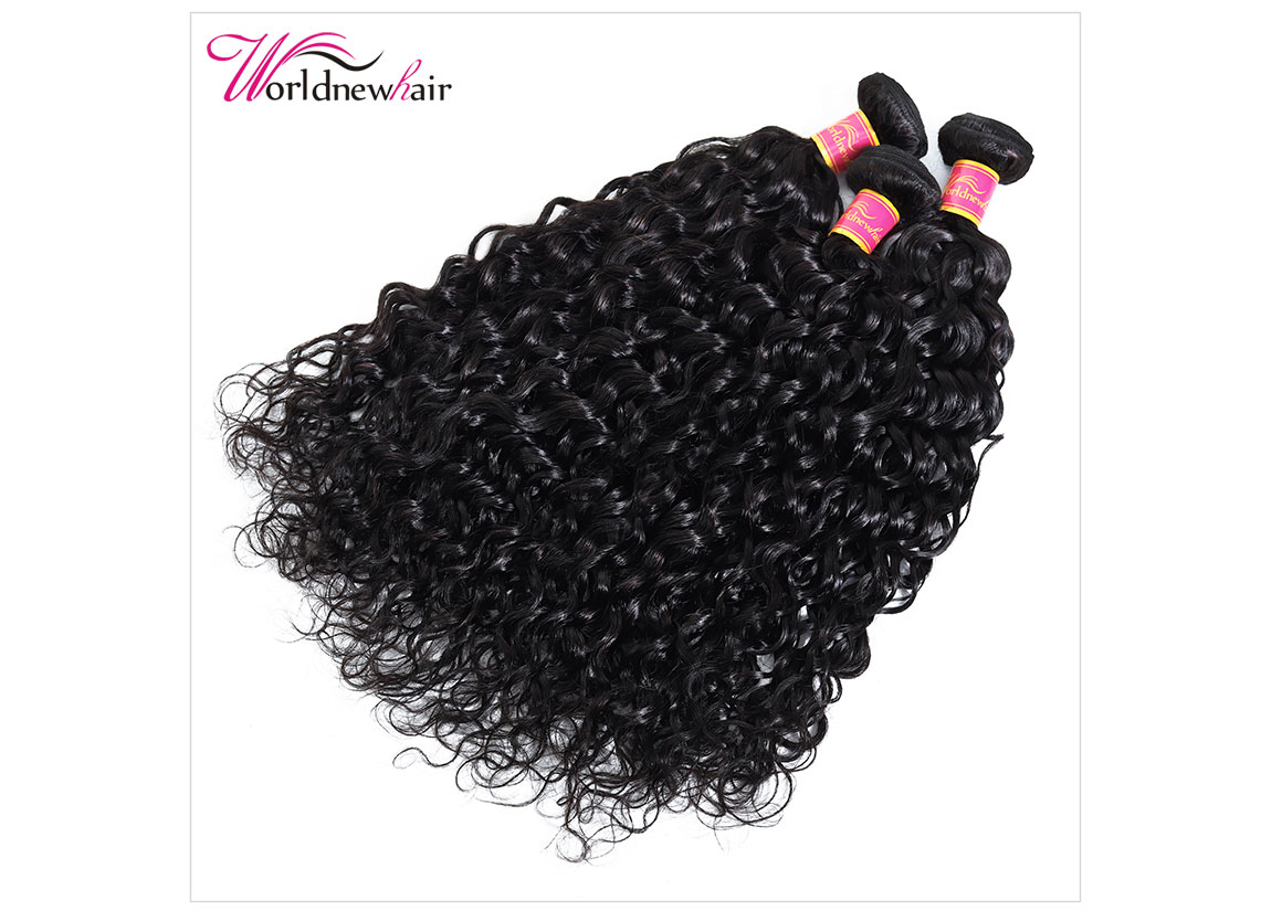 indian water wave weave hair bundles,hair weft,hair weave