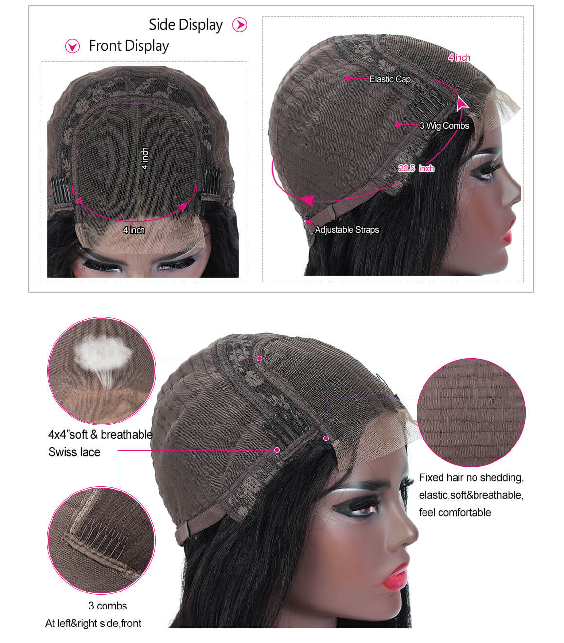 human hair body wave wigs with baby hair,natural hairline